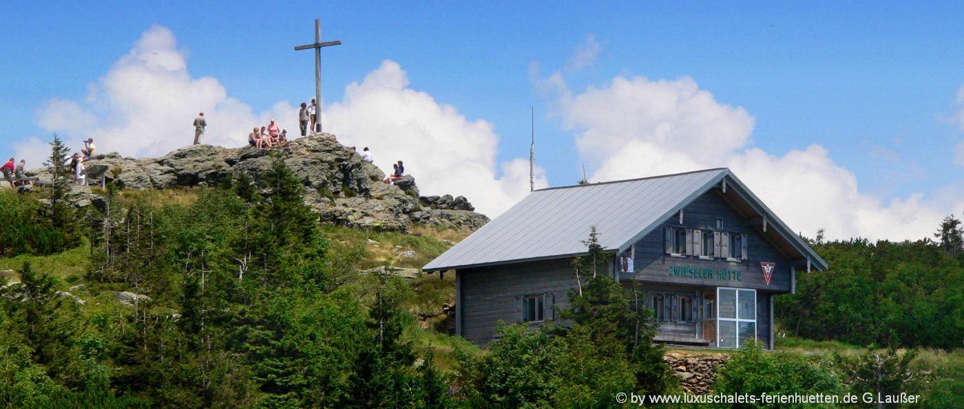 Berghütten in Bayern Almhütten Bayerischer Wald Arber Berggipfel