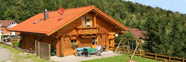 Blockhaus Bayerischer Wald mieten Ferienblockhäuser in Bayern Ansicht