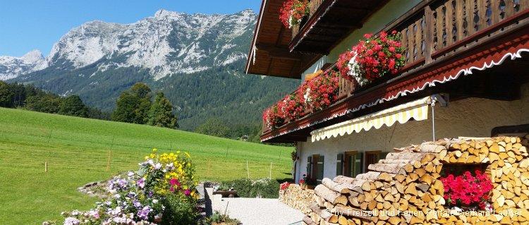 Almdorf in Mittenwald Ferienhaus Aussicht Berge