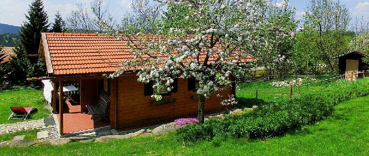 Komfort Ferienhütte mieten im Bayerischen Wald Holzferienhaus am Ernstlhof