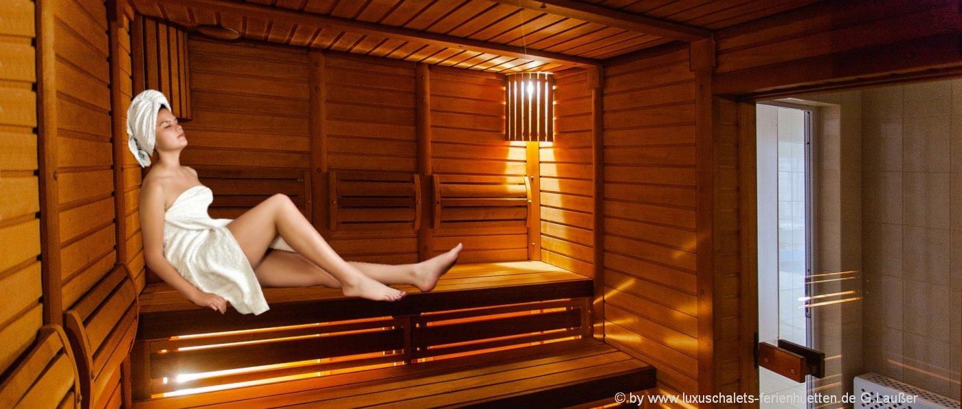 Ferienhaus mit Sauna Ferienhütten mit Whirlpool in Bayern
