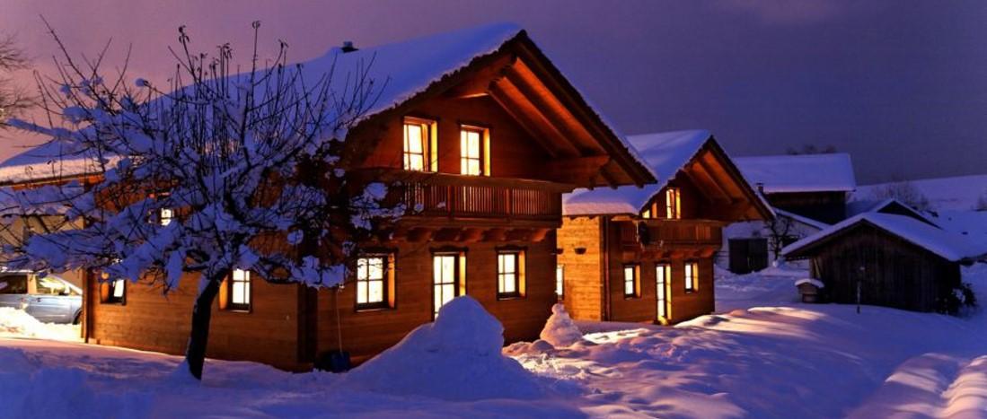 Bayerischer Wald Luxushütte in Deutschland Winter Ferienchalet